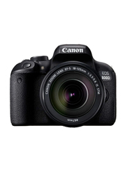 Canon EOS 800D DSLR Camera with 18-135mm F3.5-5.6 IS STM Lens, 24.2 MP, Full HD, Black