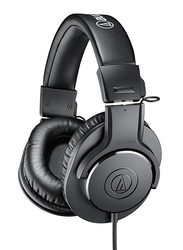 Audio Technica ATH-M20X Professional Over-Ear Headphones, Black