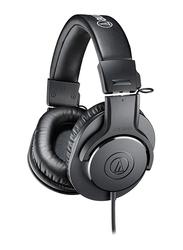Audio Technica ATH-M20X Professional 3.5mm Jack Over-Ear Headphones, Black