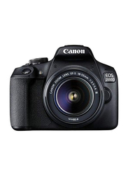 Canon EOS 2000D DSLR Camera with EF-S 18-55mm III Lens, 24.1 MP, 2728C002, Black