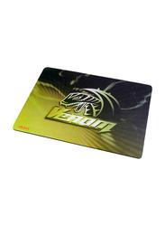 Akasa High Precision Venom Gaming Mouse Pad, Small, Yellow/Black