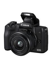 Canon EOS M50 Mirrorless Digital Camera EF-M 15-45mm F3.5-6.3 IS STM Lens, 24.1 MP, 4K, Black
