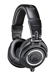 Audio Technica ATH-M50X Professional Studio Monitor 3.5mm Jack Over-Ear Headphones, Black