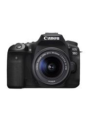 Canon 90D Digital DSLR Camera with 18-55 IS STM Lens, 32.5 MP, 3616C009, Black