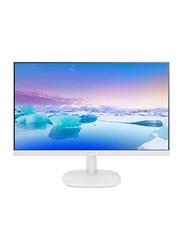 Philips 23.8 Inch LCD IPS Monitor, 243V7QDAW, White