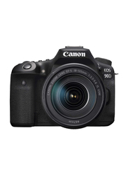 Canon 90D Digital DSLR Camera with 18-135 IS USM Lens, 32.5 MP, 3616C016, Black