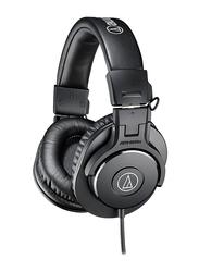Audio Technica ATH-M30X Professional 3.5mm Jack Over-Ear Headphones, Black