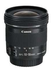 Canon EF-S 10-18mm f/4.5-5.6 IS STM Lens for All Canon EOS DSLR Cameras, 9519B005AA, Black