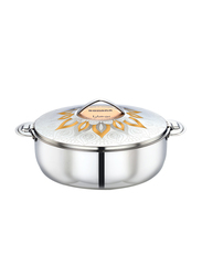 Bohara 3 Ltr Sadiyah Stainless Steel Hotpot with Lid, 9806/30/GD, Gold
