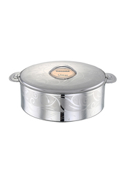 Bohara 3 Ltr Somaya Stainless Steel Hotpot with Lid, 9807/30/SD, Silver