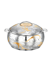 Bohara 7.5 Ltr Sahar Stainless Steel Hotpot with Lid, 9804/75/GD, Gold
