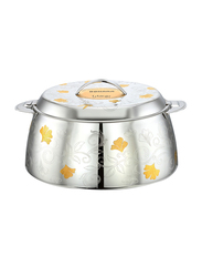 Bohara 2 Ltr Shezmin Stainless Steel Hotpot with Lid, 9803/20/GD, Gold