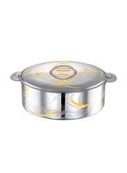 Bohara 2 Ltr Somaya Stainless Steel Hotpot with Lid, 9807/20/GD, Gold