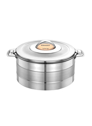 Bohara 3.5 Ltr Suhana Stainless Steel Hotpot with Lid, 9805/35/TS, Silver