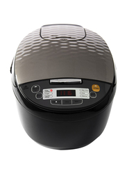 Evvoli 5L Digital LED Rice Cooker, with 7 Programmed Function Steamer & Touch Button, 860W, EVKA-RC5006B, Black/Grey
