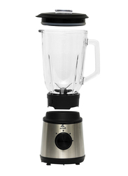 Evvoli 1.5L 2 Speed Blender with Glass Jar, 800W, EVKA-BL15B, Grey