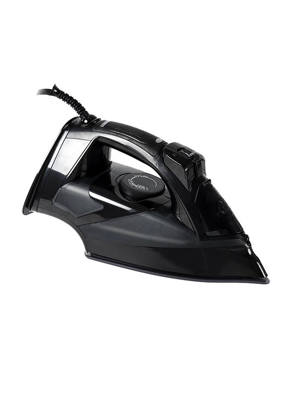 Evvoli Ceramic Soleplate Auto Shut-Off Steam Iron with Anti-Drip, 2800W, EVIR-5MB, Black