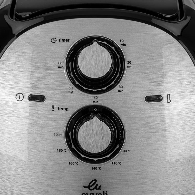 Evvoli 5.5L Multifunction Air Fryer, 1700W, EVKA-AF5501B, Black/Silver