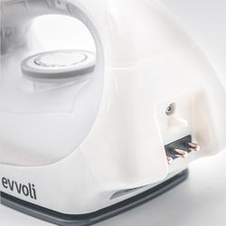 Evvoli Ceramic Cordless Soleplate Steam Iron, 1600W, EVIR-CS1600P, White