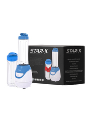 Star-X Electric Hand Blender, with 2 x 600ml Bottle, 600W, PBL001B, Blue/White/Clear