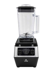 Evvoli 2L Commercial Blender, 2200W, EVKA-CBL20B, Black/Grey/Clear