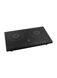 Evvoli Soft Touch Control Hob 2 Burners Induction with 9 Stage Power Setting & Safety Switch, 3500W, EVKA-IH201B, Black