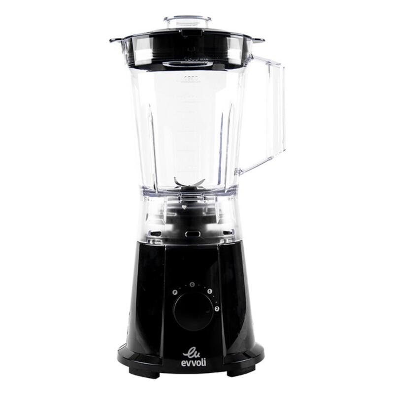 Evvoli 1.5L 2 Speed Premium Blender with Grinder Mill, 600W, EVKA-BL15B, Black