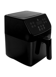 Evvoli 5.5L LED Digital Air Fryer, with Touch Screen/Timer/Temperature Control 8 Preset Programs, 1700W, EVKA-AF5508B, Black