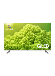 Evvoli 55-Inch 4K Ultra HD QLED Android Smart TV, 55EV250QA, Black