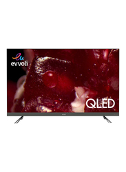 Evvoli 55-Inch 4K Ultra HD QLED Android Smart TV, 55EV350QA, Black