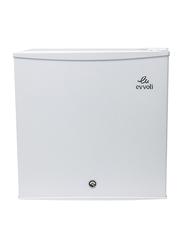 Evvoli 60L Child Lock Single Door Mini Refrigerator, EVRFM-45LW, White