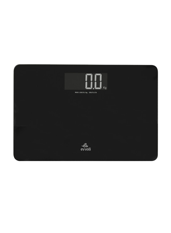 Evvoli EVCS-5HB 4 Precise Sensors Digital Scale, Black