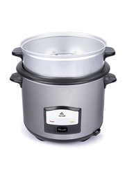 Evvoli 6.5L 2-in-1 Rice Cooker with Steamer, 750W, EVKA-RC6501S, Silver