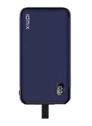 Idmix 8000mAh P10i Fast Charging Power Bank, with MFI Certifications, Blue