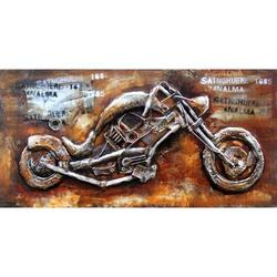 Concept Art Cooperation 3D Hand Painted Motorbike Wall Art, 90 x 120cm, Multicolor