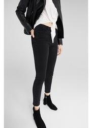Springfield Fancy Denim Jeans for Women, 42 EU, Black