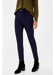 Springfield Cotton Fancy Pant for Women, 36 EU, Blue