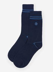 Springfield Mid Crew Socks for Men, Dark Blue, Large