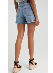 Springfield Denim Bermuda Shorts for Women, 34 EU, Medium Blue