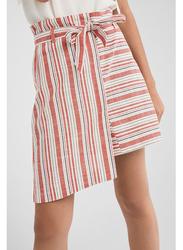Springfield Striped Mini Skirt,  Large, Wine Red