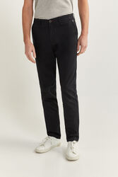 Springfield Straight Fit Chinos for Men, 44 EU, Black