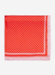 Springfield Polka Dot Motif Scarf for Women, Extra Small, Orange