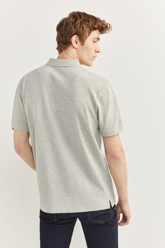 Springfield Short Sleeve Basic Polo Shirt for Men, Extra Small, Grey