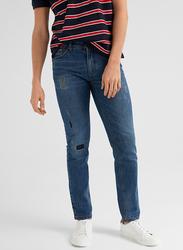 Springfield Denim Jeans for Men, 38 EU, Light Blue