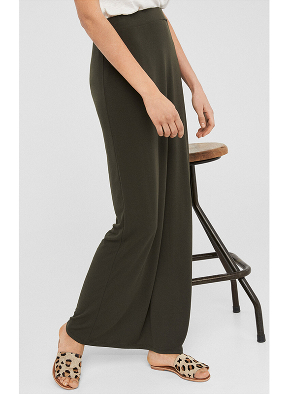 Springfield Solid Maxi Skirt,  Large, Green