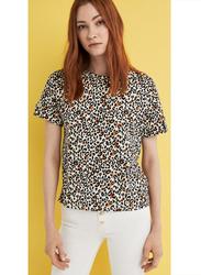 Springfield Short Sleeve Top T-Shirt for Women, Small, Beige
