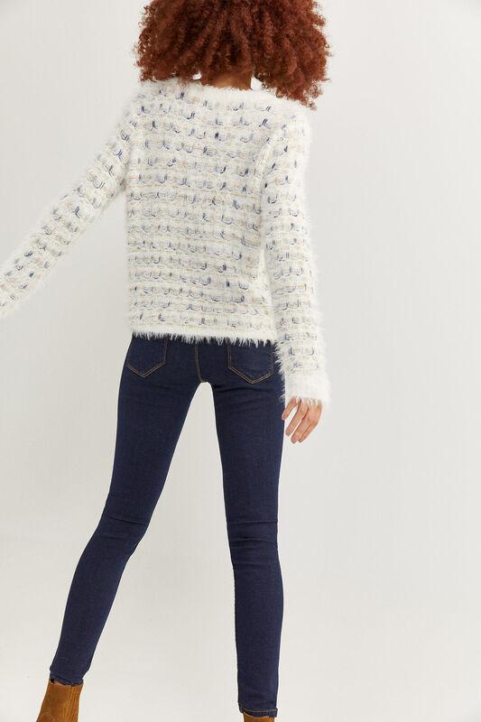 Springfield Indigo Denim Jeans for Women, 42 EU, Navy Blue