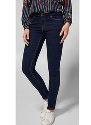 Springfield Denim Basic Jeans for Women, 38 EU, Navy Blue