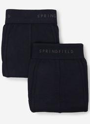 Springfield 2-Piece Slips Knitted Underwear Set for Men, Dark Blue, Medium