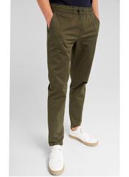 Springfield 4-Pockets Drawstring Waist Chinos for Men, Medium, Green